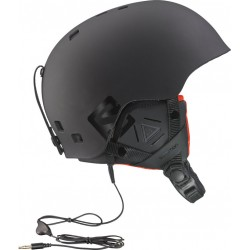 Casco Salomon Brigade Audio Black Matt