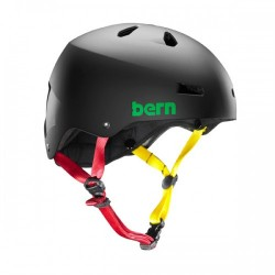 Casco Bern Macon Matte Black Rasta