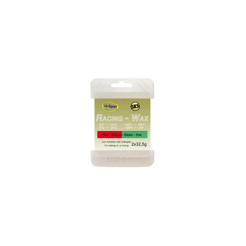 Cera Racing-Wax Pack Plus Minus (-5°C / +10°C) y (-5°C / -20°C) 65grs