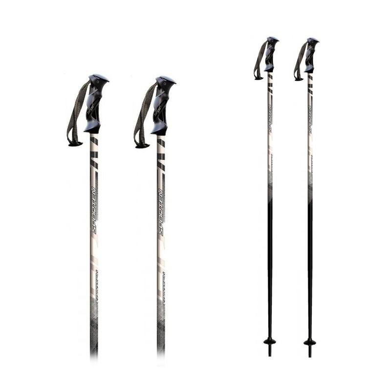 Baston Ski Sporten Aluminio Adulto - Negro