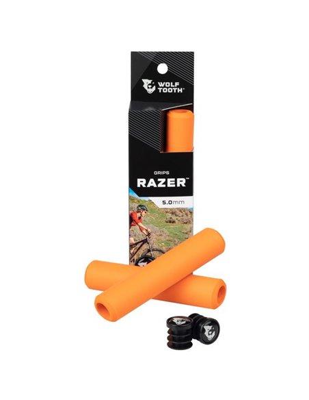 Puños de Silicona Wolf Tooth Razer - Naranjo