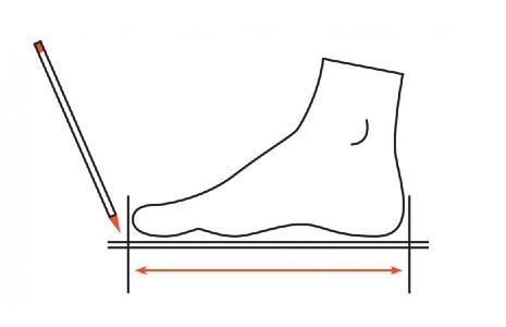 Cómo medir el pie